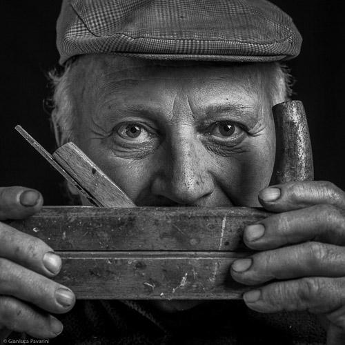 materia ritratto Giuseppe Morandini falegname